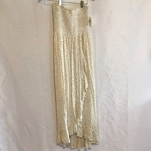 NWT ALtar'd State Cream and Navy  strapless dress